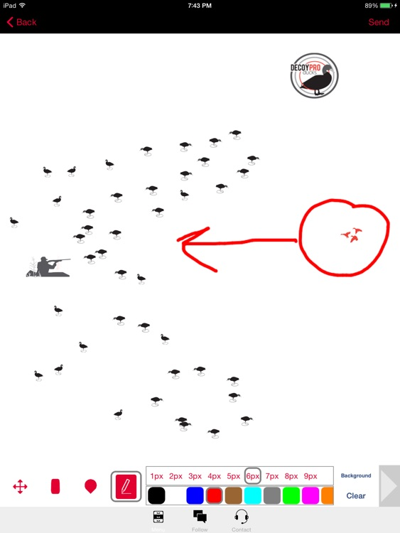 Duck Hunting Diagram Builder Duck Hunting Spreads screenshot-0