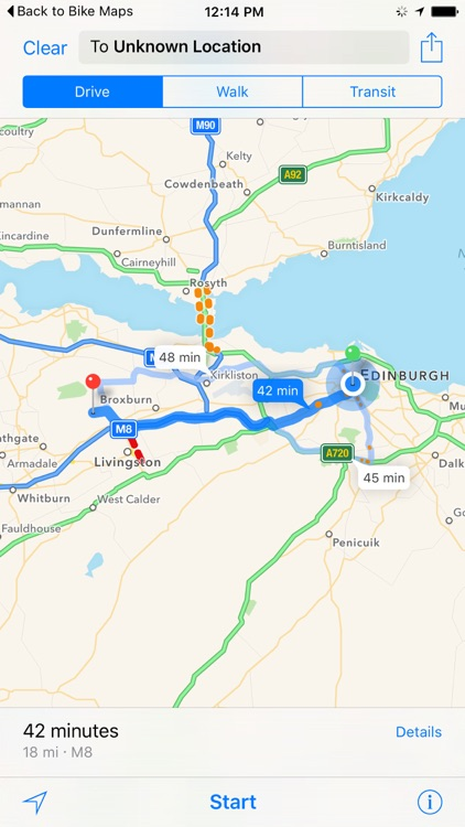 Edinburgh Cycling Map screenshot-3