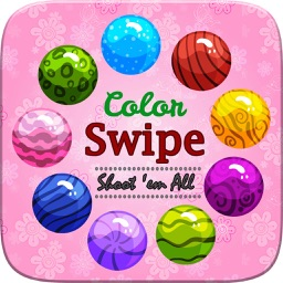 Color Swipe Fun Endless Action Shoot 'em All - Addictive Simple and Free Puzzle Game