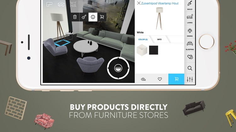 Amikasa - 3D Floor Planner with Augmented Reality screenshot-4