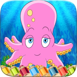 Charm Ocean Colorbook Drawing Paint Coloring Game for Kids