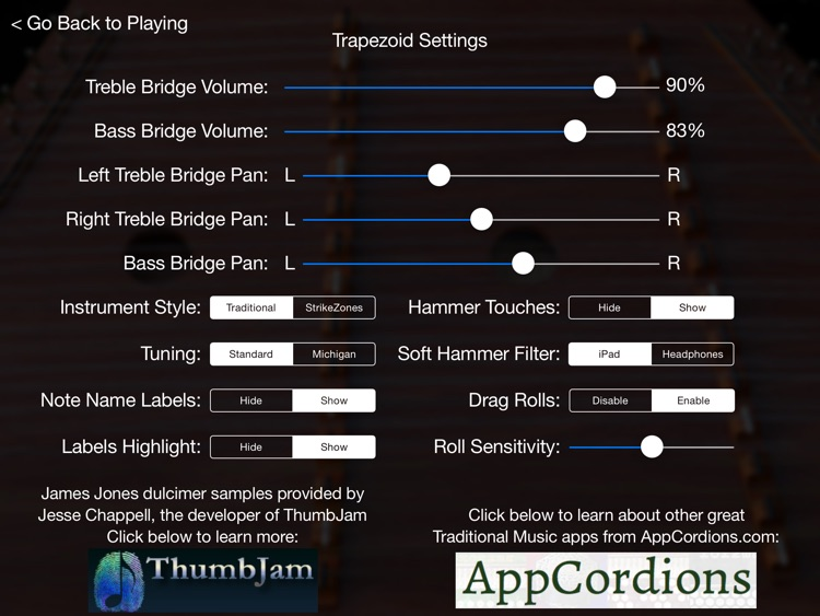Trapezoid - Hammered Dulcimer for the iPad screenshot-3