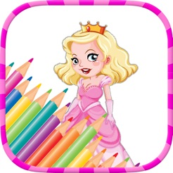 Prenses Boyama Sayfaları çocuklar Için Boyama Oyunları App Storeda