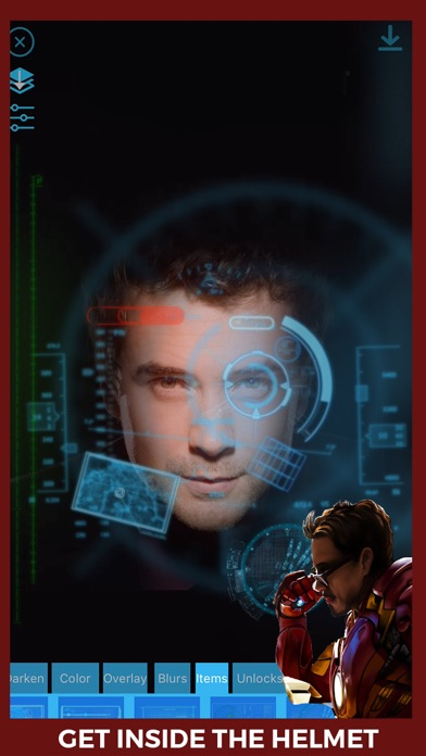 HUD - Heads Up Display Iron Man Edition Overlay HUD Over Image
