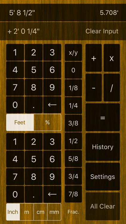 Feet & Inches Calculator