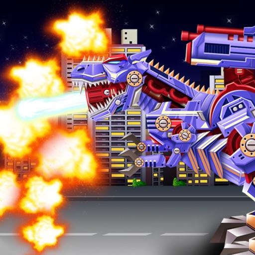 Dinosaur Robot Warrior War iOS App