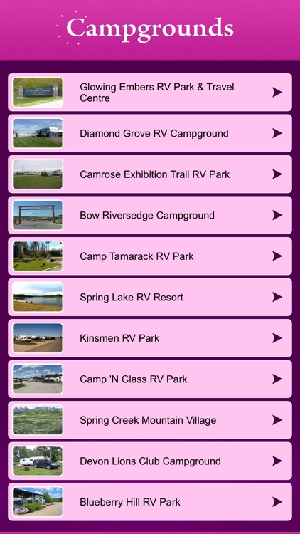 Alberta Campgrounds & RV Parks