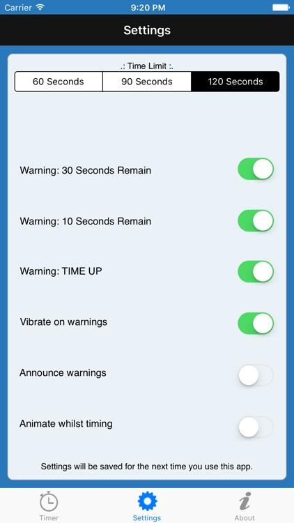 Game Turn Timer - for scrabble screenshot-4
