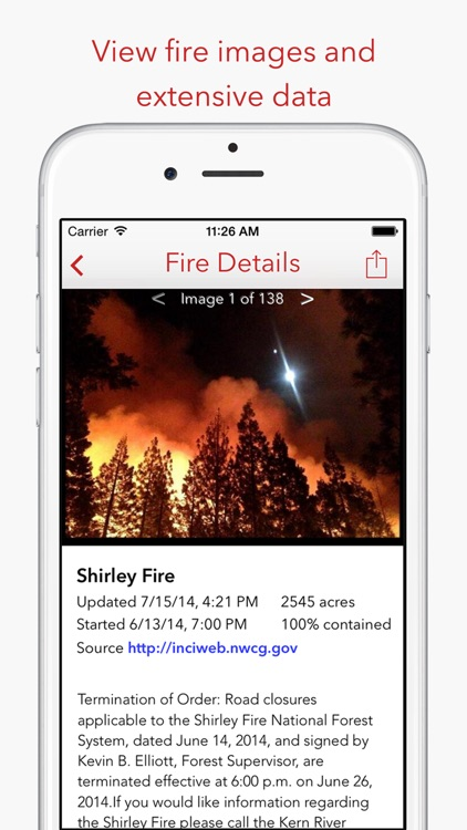 Fire Finder - Wildfire Info, Images and More screenshot-1