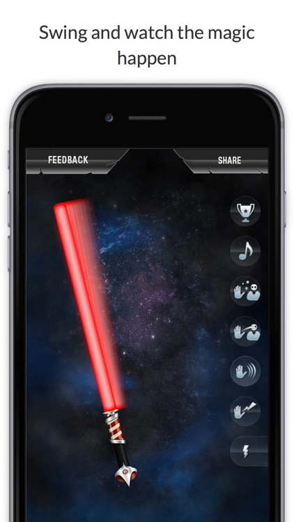 Crystal Saber of Light - The ultimate light saber experience in your pocket