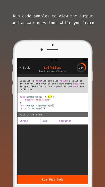 SwiftBites - Learn How to Code in Swift with Interactive Mini Lessons screenshot-3