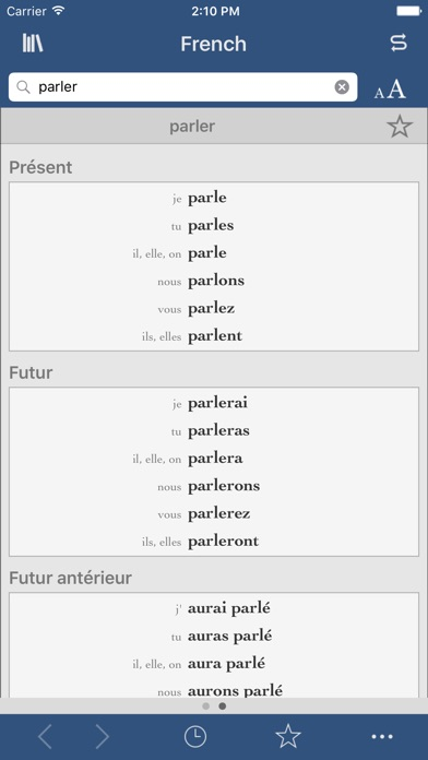 French Dictionary and Thesaurus with Verbs screenshot two