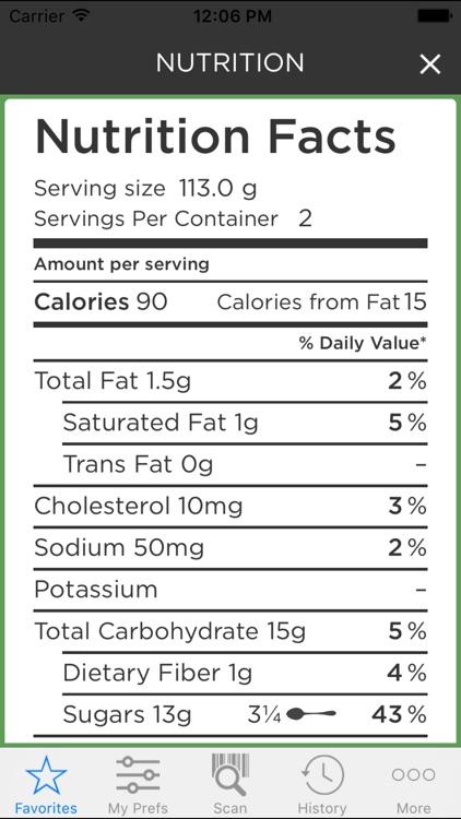 ipiit - Grocery Scanner for Food Allergies & Diets screenshot-3