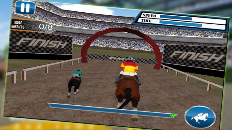 Horse Race Run & Jump - 3D Horse Jumping Stunts , Free HD Racing Game