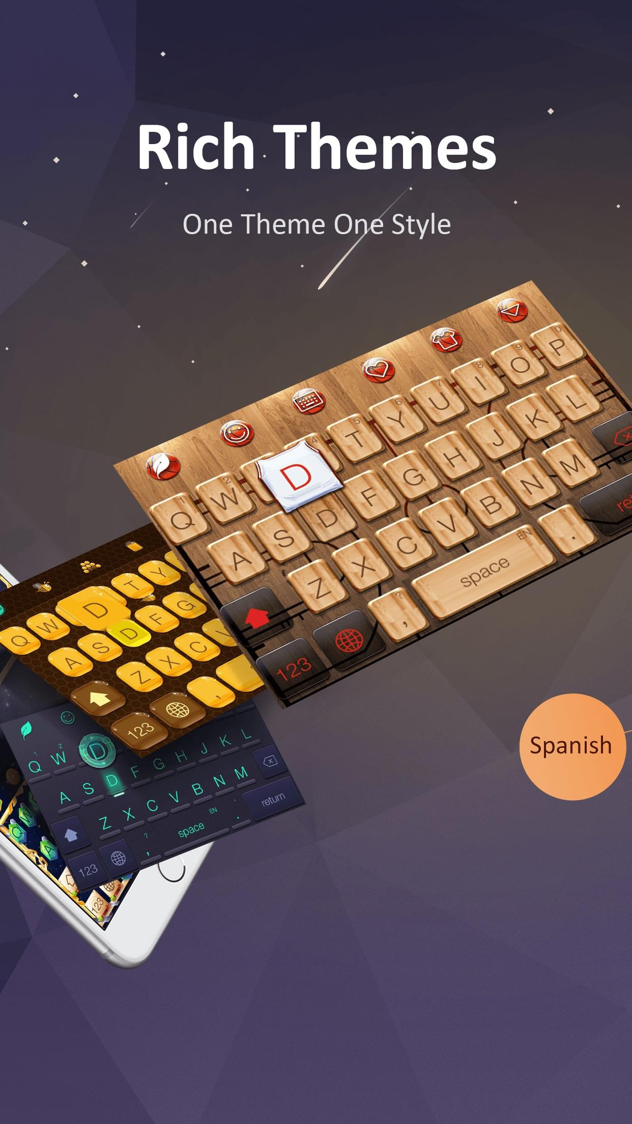 GO Keyboard - Emojis with Cool Themes Screenshot