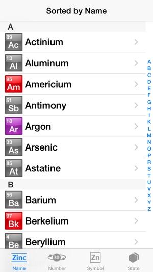Tabel periodik unsur kimia dan keterangan di app store jepretan layar iphone urtaz Images