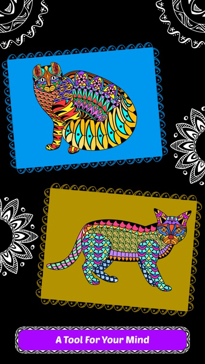 Creative Cats Art Class-Stress Relieving Coloring Books for Adults FREE screenshot-3