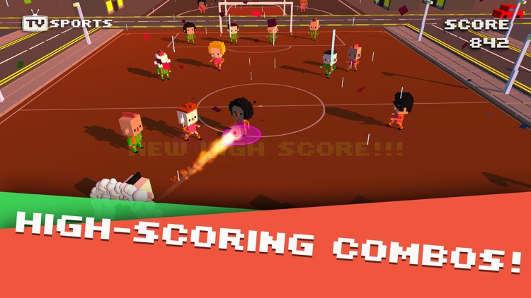 TV Sports Soccer - Endless Blocky Runner screenshot-4