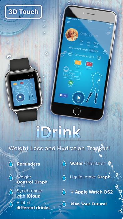 iDrink - Weight Loss and Hydration Tracker!のおすすめ画像1