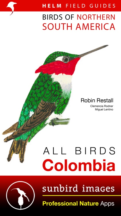All Birds Colombia - a complete field guide to all the bird species recorded in Colombia