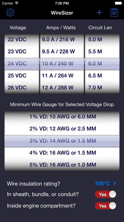 WireSizer - DC Voltage Drop Calculator screenshot-3
