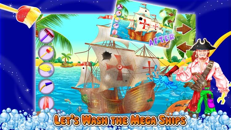 Kids Ship Wash Salon – Cleanup & repair pirate ships in this crazy mechanic game screenshot-3