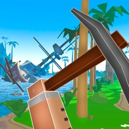 Pixel Pirate Island Survival Simulator 3D