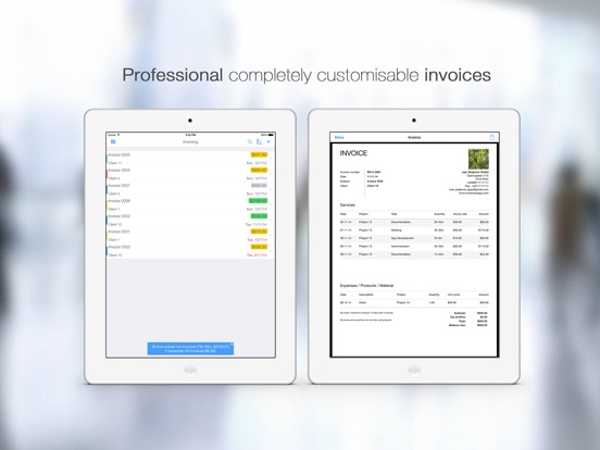 Time tracker and Invoice - TimeTrack Screenshot