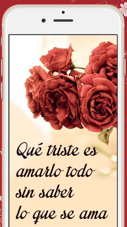 Love quotes in spanish  Romantic pictures with messages to conquer screenshot-3