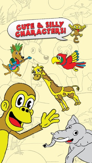 Colorindo Toque Zoo Animal Para Cor Coloring Book de atividades para crianças e Edição Família Pré-escolar final Coloring Animal Zoo Touch To Color Activity Coloring Book For Kids and Family Preschool Ultimate Edition Screenshot