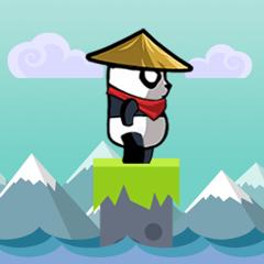 Spring Baby Ninja Panda - Stick Jumpy Hero