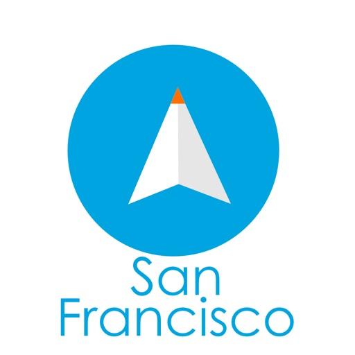 サンフランシスコ旅行者のためのガイドアプリ 距離と方向ナビのPilot(パイロット)