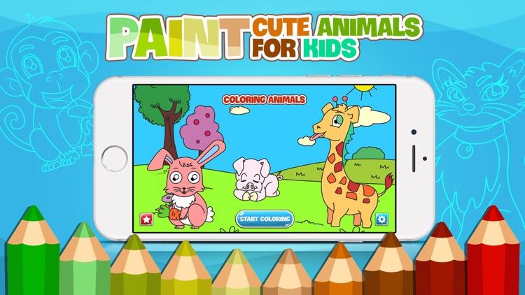 AniPaint - Coloring Animals with Sparks for Kids