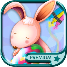 Easter Coloring Book Paint eggs and rabbits - Premium