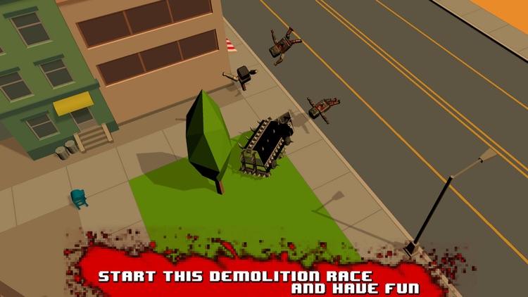 Zombie Smashy Death Race 3D screenshot-3