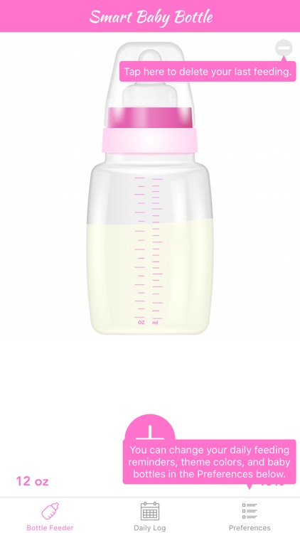 Smart Baby Bottle - Feeding, Reminder, & Daily Tracker Log