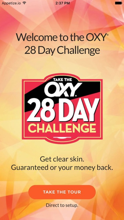 OXY 28 Day Challenge for acne free skin screenshot-0