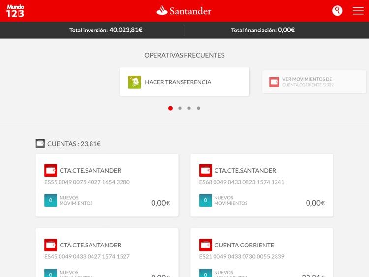 Santander Tablet