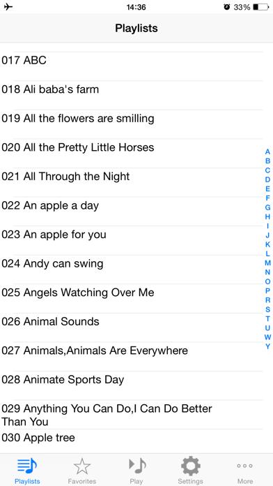 Screenshot of 600 canzoni preferite per bambini in inglese3