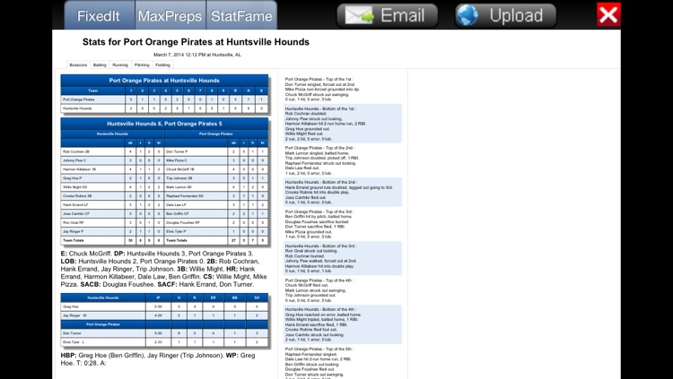 Fixed It! Baseball ScoreBook screenshot-3