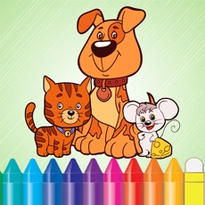 Activities of Animal Dog Cat & Rat Coloring Book - Drawing for Kids Games