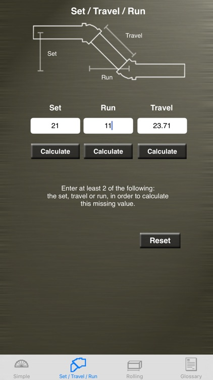 Pipe Offset Calculator