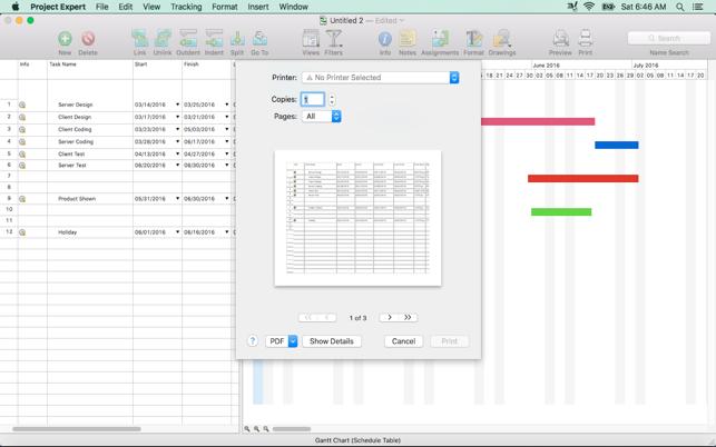 Project Expert Task Management Gantt Chart Planner On The Mac