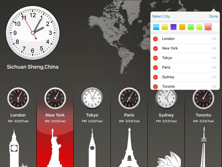 Global Clock for iPad