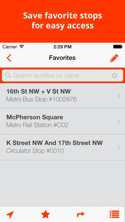 BusTrackDC - real time bus & rail info for DC screenshot-3