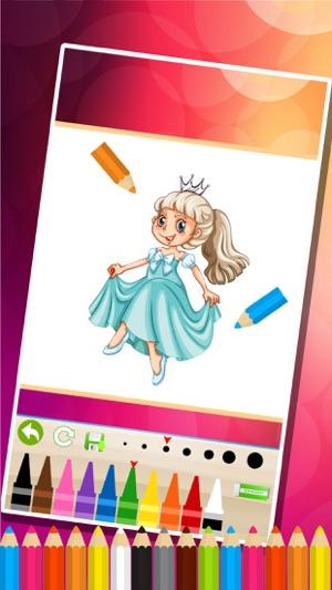 princesa para colorear - juegos de pintura para niños en App Store