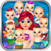 Best Fun Games - Mommy's Octuplets Newborn Babies - My Mermaid Baby Salon Doctor Game! artwork