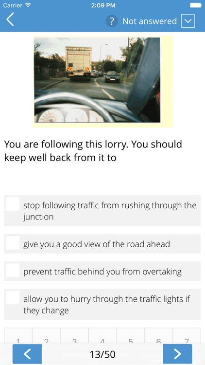 Theory Test Car Driving
