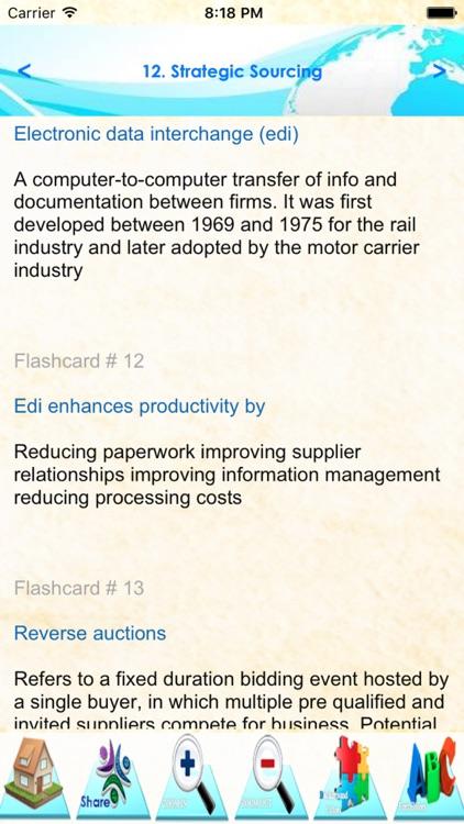 Supply Management Exam Review :+1000 Study Notes & Exam Quiz (Part3) screenshot-3