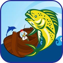 Teddy bear Fishing with Aquarium Fun Fish